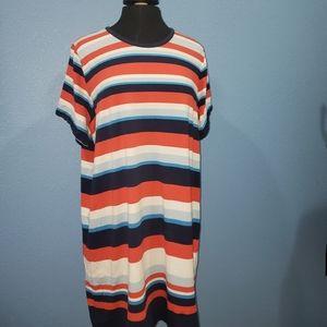 Michael Kors Striped T-shirt Dress 2X